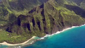 Napali Coast from bird's eye view Royalty Free Stock Photos
