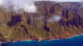 Napali Coast from bird's eye view Stock Images