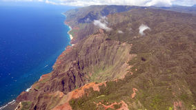 Napali Coast from bird's eye view Stock Photo