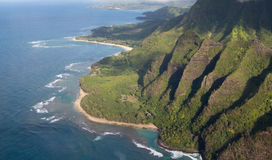 Napali Coast from Helicopter Stock Images