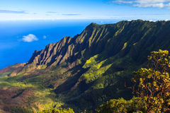 Napali Coast Mountains Stock Photos