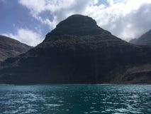 Napali Coast Mountains and Cliffs Seen from Pacific Ocean - Kauai Island, Hawaii. Stock Photos