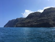Napali Coast Mountains and Cliffs Seen from Pacific Ocean - Kauai Island, Hawaii. Stock Images