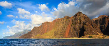 Napali Coast Mountains Royalty Free Stock Photos