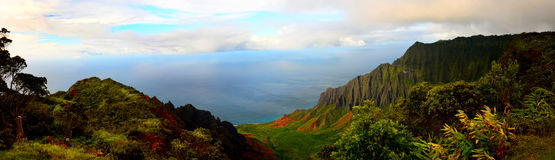 Napali Coast Pano Stock Photos