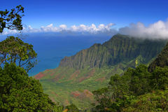 Napali Coastline. From Kalalau Lookout, Kauai, HI Royalty Free Stock Image