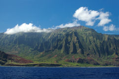 Napali Hawaii. The beautiful island of Kauai, Hawaii royalty free stock image