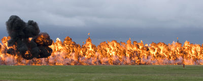 Napalm explosion Royalty Free Stock Photo