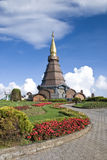 Napametaneedol pagoda on top of mountain, Thailand Royalty Free Stock Image