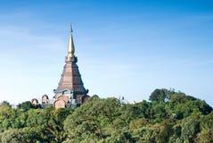 Napametaneedol pagoda on top of mountain, Thailand Stock Photo