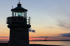 Napastuje Laoghaire latarnię morską fotografia royalty free