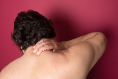 Nape Pain. Medical concept Stock Image