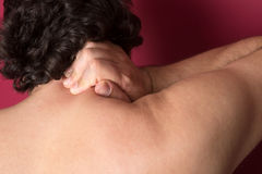 Nape Pain. Medical concept Royalty Free Stock Photography