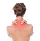 Nape and trapezius ache Royalty Free Stock Photography