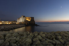 Napels, castel dell'ovo royalty-vrije stock foto