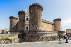 NAPELS Castel Nuovo Maschio Angioino stock afbeelding