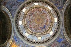 Napels; de Kathedraal: de koepel van S De kapel van Gennaro stock fotografie