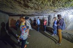 Napels, ITALIË - JUNI 01: De oude ondergrondse galerijen van Napels in Napels, Italië op 01 Juni, 2016 Stock Afbeelding