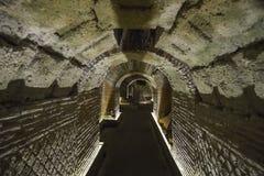 Napels, ITALIË - JUNI 01: De oude ondergrondse galerijen van Napels in Napels, Italië op 01 Juni, 2016 Royalty-vrije Stock Fotografie