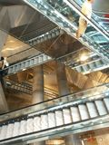 Napels, 10 oktober 2014, de post van Toledo: nieuwe metrilijn Stock Afbeelding