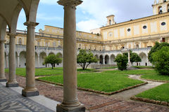 Napels; St Martin chartreuse, het klooster Stock Fotografie