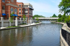 Naperville Riverwalk West Branch of the DuPage River Royalty Free Stock Photography