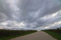 Midwest Prairie Storm Clouds Over Naperville Illinois royalty free stock image