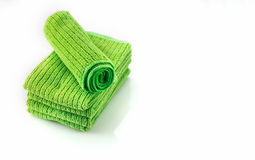 The Napery green color on white background. Stock Photography