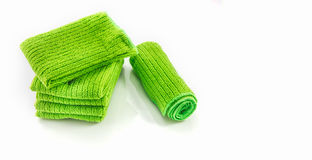 The Napery green color on white background. Royalty Free Stock Photography