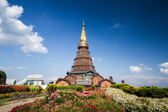 Naphamethanidon pagoda chiangmai Thailand Stock Photo