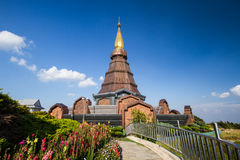 Naphamethanidon pagoda chiangmai Thailand Royalty Free Stock Photo