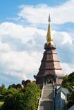 Naphamethanidon pagoda. On the top of Doi Inthanon in ChiangMai, Thailand Stock Photography