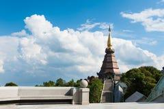 Naphamethanidon pagoda. On the top of Doi Inthanon in ChiangMai, Thailand Royalty Free Stock Photography