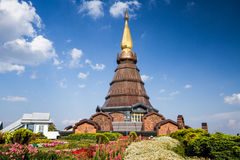 Naphamethanidon-Pagode chiangmai Thailand Lizenzfreies Stockbild