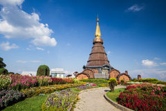 Naphamethanidon-Pagode chiangmai Thailand Stockbild