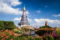 Naphapholphumisiri pagoda chiangmai Thailand Stock Photos