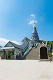 Naphapholphumisiri pagoda. On the top of Doi Inthanon in ChiangMai, Thailand Stock Photos