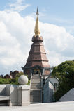 Naphapholphumisiri pagoda. On the top of Doi Inthanon in ChiangMai, Thailand Stock Image