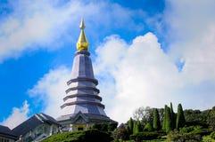 Naphapholphumisiri pagodchiangmai Thailand Arkivbild