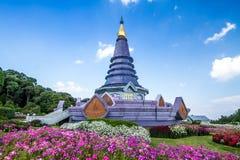 Naphapholphumisiri-Pagode chiangmai Thailand Stockbilder