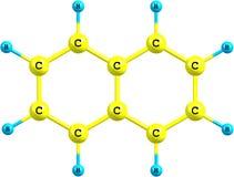 Naphtalene molecular structure on white background Royalty Free Stock Image