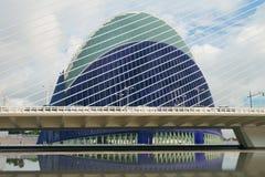 Napięcie faceci most i agora kompleks spain Valencia Fotografia Royalty Free