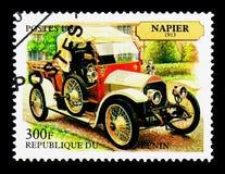 Napier, 1913 modelos, serie de los coches del vintage, circa 1998 Foto de archivo libre de regalías