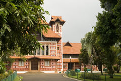 Napier Museum, India. Side view of ancient napier museum, in India Royalty Free Stock Image