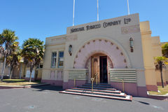 Napier - National Tobacco Company Building. NAPIER, NZL - DEC 03 2014:The National Tobacco Company Building in Napier.Napier was once home to one of New Zealand' royalty free stock images