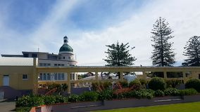 Napier New Zealand. Dome clock colour royalty free stock images