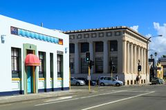 Napier, Nueva Zelanda El ` s de Art Deco Hildebrandt y edificios de oficinas clásicos de la confianza pública fotografía de archivo
