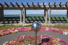 Napier. Sphere in garden on the waterfront of Napier, New Zealand Royalty Free Stock Photos