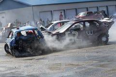 Demolition derby. Napierville demolition derby, July 2, 2017 Royalty Free Stock Image