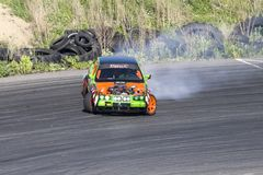 Drift car in action Royalty Free Stock Photography